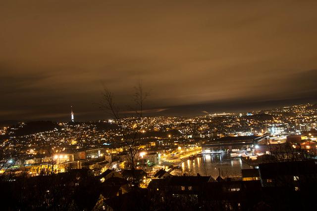 Trondheim at night
