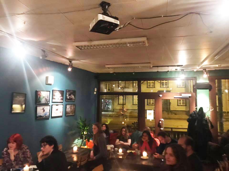 Poetry nights Trondheim in Stammen cafe