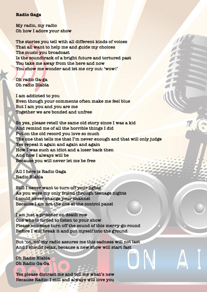 Radio Gaga poem Stories of Trondheim